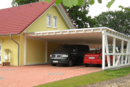 garage mit carport flachdach. Black Bedroom Furniture Sets. Home Design Ideas