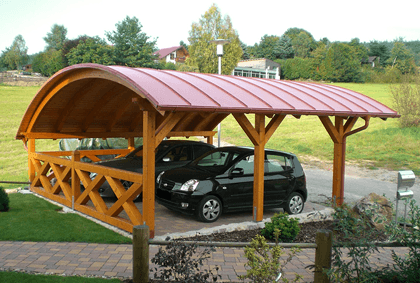 bogendach carport auf carport. Black Bedroom Furniture Sets. Home Design Ideas