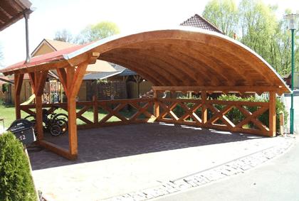 Bogendach carport auf carport bauen