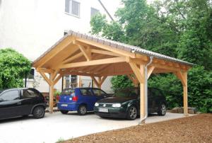 Spitzdach Carport bauen
