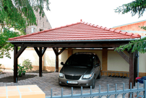Walmdach Carport bauen